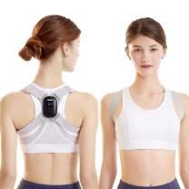 socathey Back Posture Corrector with Sensor Vibration Reminder, Smart Posture Corrector for Adults & Teens & Kids, Adjustable Intelligent Posture Trainer Improves Humpback - Gray (L)