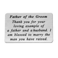 FEELMEM Father of The Groom Keychain Thanks Gift Wedding Party Gift for Father in Law Gift from Bride