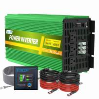 EDECOA Pure Sine Wave Power Inverter 3000 Watt DC 12V to 110V 120V AC Solar Inverter with 3 AC Outlets and AC Terminal Block