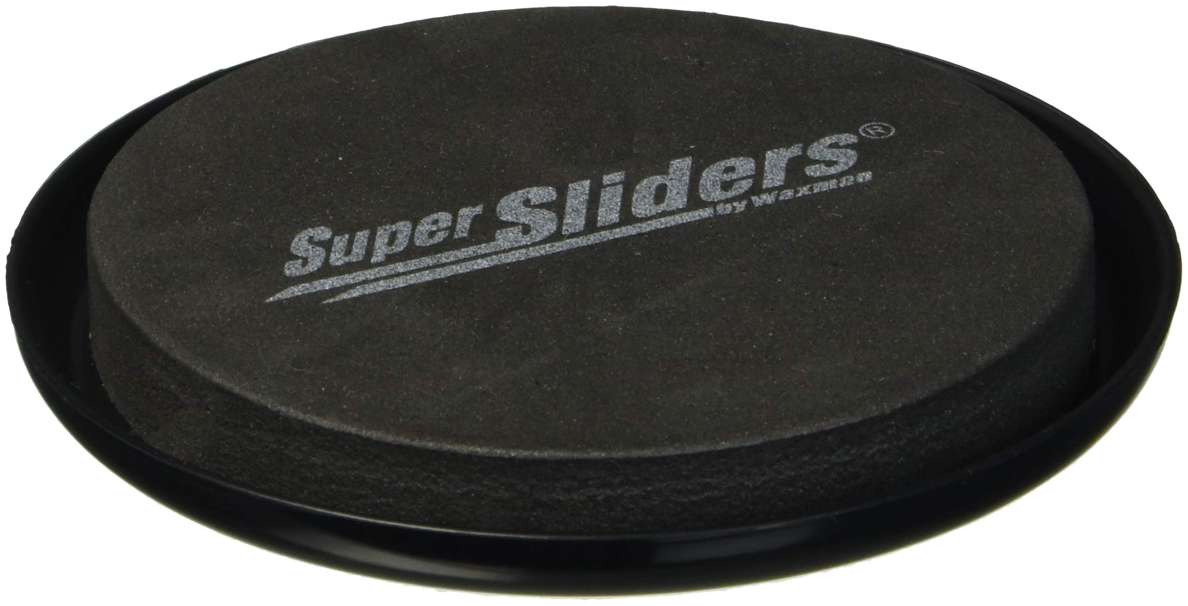 """SuperSliders 4763395N Reusable Furniture Sliders for Carpet- Quickly and Easily Move Any Item, 3-1/2"""" Black (4 Pack)"""