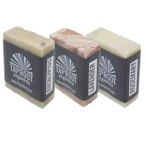 TAPROOT ORGANICS - Spa Blends Handmade Cold Process Soap for the ENTIRE FAMILY! Includes Best Sellers Rosemary, Lavender & Eucalyptus (Vegan) 3 Pack