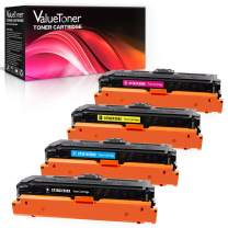Valuetoner Remanufactured Toner Cartridge Replacement for HP 508X 508A CF360X CF361X CF362X CF363X for Color Laserjet Enterprise M553dn,M553n,M553x,MFP M577z,M577dn,M577f (4-Pack)