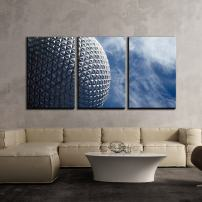 """wall26 - 3 Piece Canvas Wall Art - Geometric Architecture Under Blue Sky - Modern Home Decor Stretched and Framed Ready to Hang - 16""""x24""""x3 Panels"""