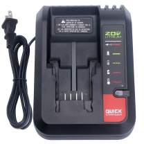 Biswaye PCC692L 20V MAX Battery Charger Compatible with Porter-Cable 20V MAX Lithium Battery PCC680L PCC681L PCC685L PCC685LP PCC682L PCC601 Black & Decker 20V Lithium Battery LBXR20