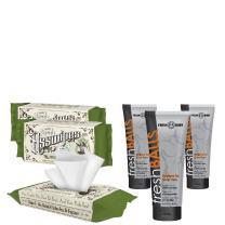Fresh Balls and ASSWIPES (3 Pack) The Ultimate Fresh Pack for Men! Antiperspirant Hygiene Bundle That's Alcohol, Paraben, and Fragrance Free for Sensitive Skin!