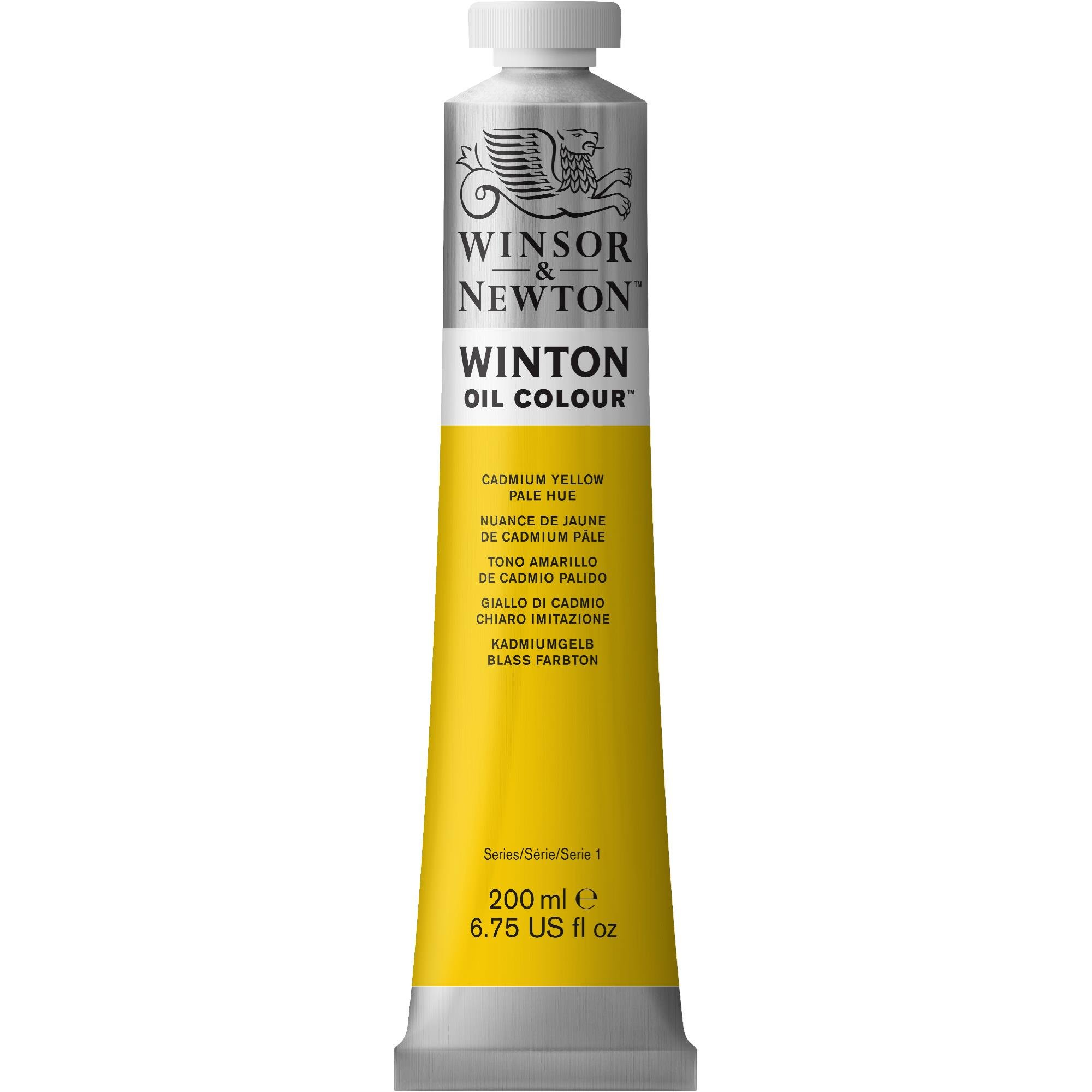Winsor & Newton Winton Oil Colour Paint, 200ml, Cadmium Yellow Pale Hue