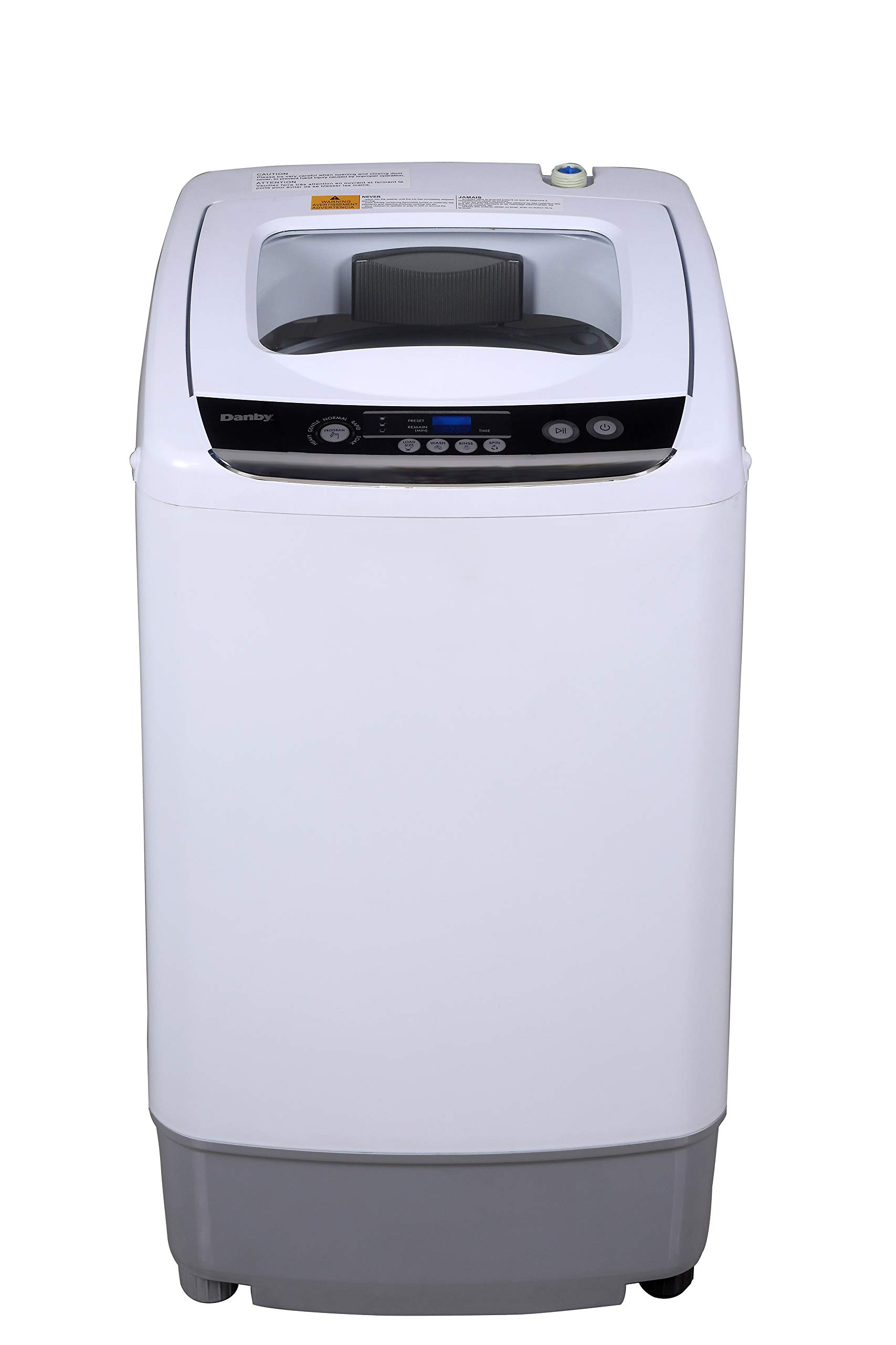 Danby DWM030WDB-6 0.9 Cu.Ft. Washing Machine in White-Compact Top Load Washer for Apartments, Small Spaces