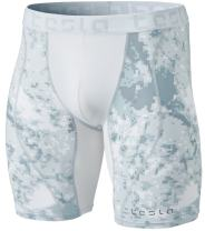 TSLA Men's Compression Shorts Baselayer Cool Dry Sports Tights, Mesh(mus77) - Pixel Camo Grey, X-Large.