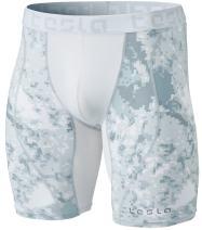 TSLA Men's Compression Shorts Baselayer Cool Dry Sports Tights, Mesh(mus77) - Pixel Camo Grey, Large…