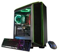 CUK Mantis Custom Gaming PC (Intel i5-9400F, 16GB DDR4 RAM, 512GB NVMe SSD, NVIDIA GeForce GTX 1650 Super 4GB, 500W PSU, No OS) The Best New Tower Desktop Computer for Gamers