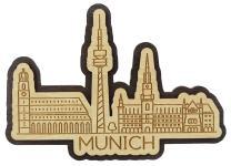Printtoo Munich City of Germany Engraved Fridge Wooden Souvenir Custom Fridge Magnet