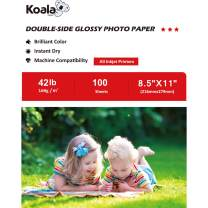 Koala Double Side Glossy Photo Paper 8.5x11 Inches 100 Sheets Compatible with Inkjet Printer USE DYE INK 160gsm