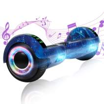 YHR Hoverboards with Wireless Bluetooth Speaker LED Wheel 6.5inch Self Balancing Hoverboard for Kids