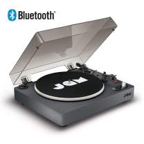 JAM Spun Out Bluetooth Turntable - 33-1/3, 45, and 78 RPM Speeds, Vinyl Digitization Capable, 30 ft. Range