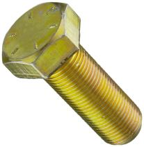 """Steel Hex Bolt, Grade 8, Zinc Yellow-Chromate Plated Finish, External Hex Drive, Meets ASME B18.2.1, 1-1/2"""" Length, Fully Threaded, 5/8""""-18 Threads, Made in US (Pack of 25)"""