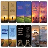 Bible Verse Cards (12-Pack) Salvation Scriptures Bookmarks John 3:16 - Best Salvation Bible Verses Bookmarks - Easter Basket Stuffers for Men Women Cell Group Evangelism Church Supplies