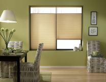 Windowsandgarden Cordless Top Down Bottom Up Cellular Honeycomb Shades, 33W x 64H, Leaf Gold, Any Size 18-72 Wide