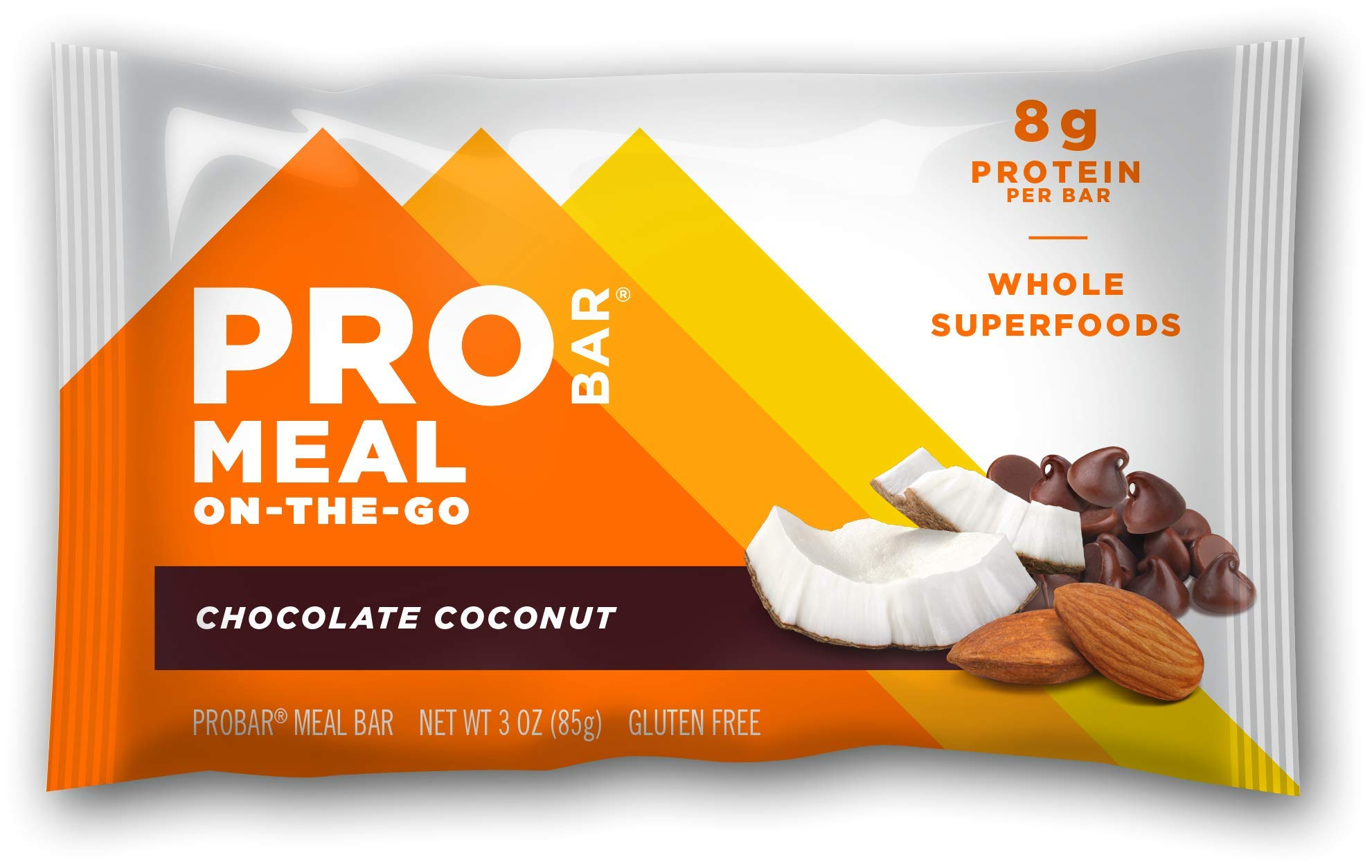 PROBAR - Meal Bar, Chocolate Coconut, Non-GMO, Gluten-Free, Certified Organic, Healthy, Plant-Based Whole Food Ingredients, Natural Energy (6 Count)