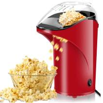Popcorn Machine, BPA Free Popcorn Maker Healthy Machine No Oil Needed 2.8oz Large Capacity with Measuring Cup and Removable Lid