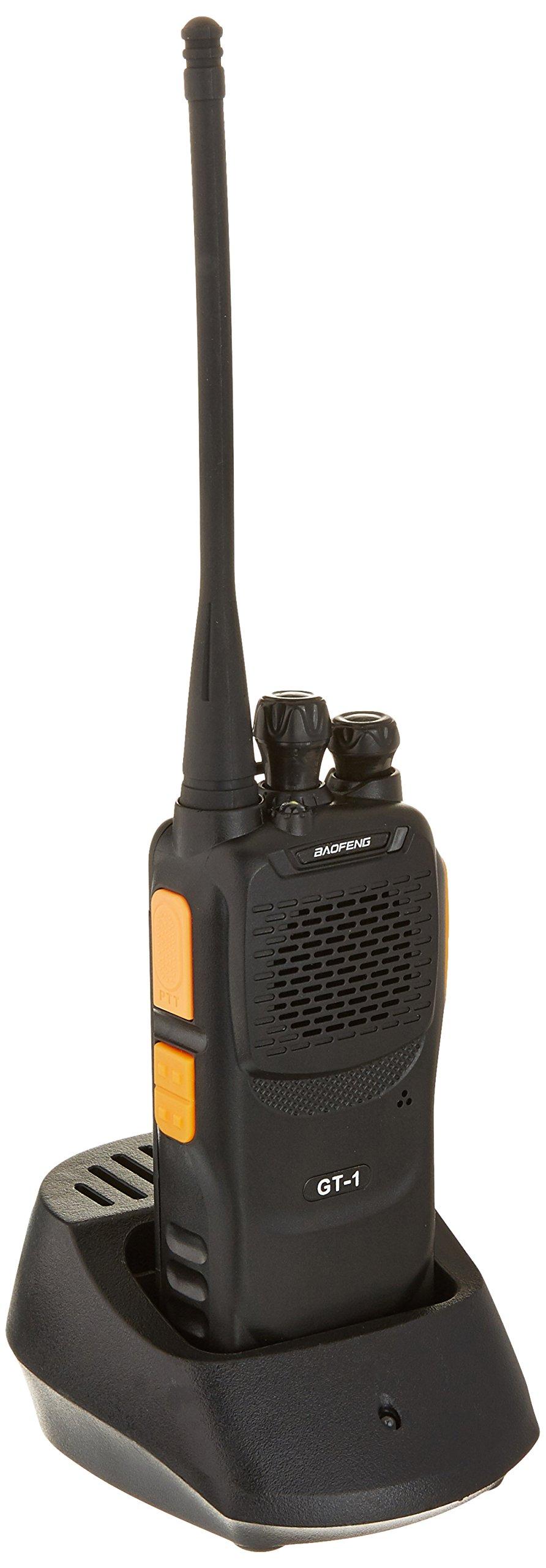 Baofeng Pofung GT-1 UHF 400-470MHz FM Two-Way Ham Radio, 16 Channels, 1500mAh Battery (Yellow)