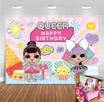 MMY 7x5ft Hot Pink Stripes Photography Backdrop Queen Princess Kids Cartoon Girls Birthday Party Banner Supplies Baby Showeer Cake Table Background Decoration Photo Shoot Booth Props Surprise