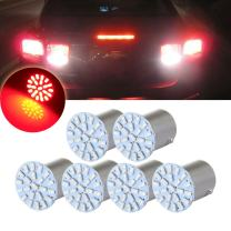 cciyu 6pcs 1156 22SMD Red LED Exterior Light Bulbs Replacement fit for Corner,Stop,Parking light