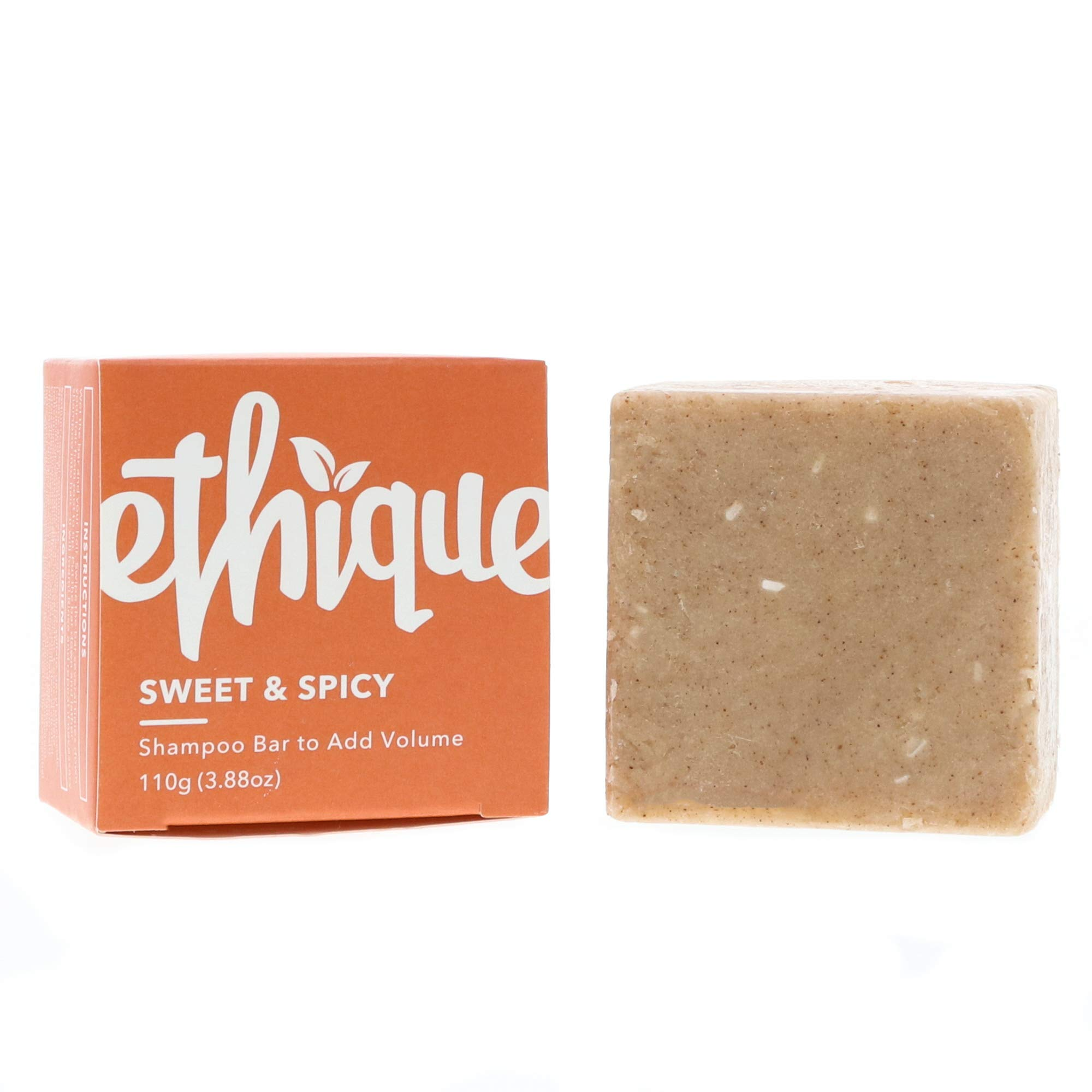 Ethique Eco-Friendly Solid Shampoo Bar to Add Volume & Bounce, Sweet & Spicy - Sustainable Natural Shampoo, Plastic Free, 100% Soap Free, Vegan, Plant Based, 100% Compostable and Zero Waste 3.88oz