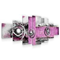 Startonight Large Canvas Wall Art - Abstract Decoration Purple Spirals - Huge Framed Modern Set of 7 Panels 40 x 95 Inches