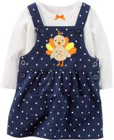 Baby Girl 1st Thanksgiving Outfit My 1st Thanksgiving Romper + Skirt 2PCS Clothing Set 0-3 Months Blue
