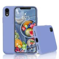 """Goutoday iPhone XR Cases, Slim Liquid Silicone Soft Rubber Shockproof Protective Case Cover Compatible with iPhone XR 6.1"""" Soft Microfiber Lining with Full Body Protective Case Cover (Lavender Gray)"""