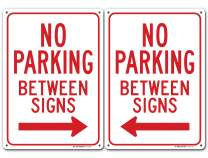 "No Parking Between Signs Left and Right Arrow Sign, Made Out of .040 Rust-Free Aluminum, Indoor/Outdoor Use, UV Protected and Fade-Resistant, 10"" x 14"", by My Sign Center"