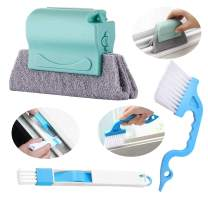Creative Window Groove Cleaning Brush Set, Magic Window Cleaning Brush Window Cleaning Brush Tool Window Track Cleaning Kit Hand-held Crevice Cleaner Tools, Easy Clean All Window Slides & Gaps (3pcs)