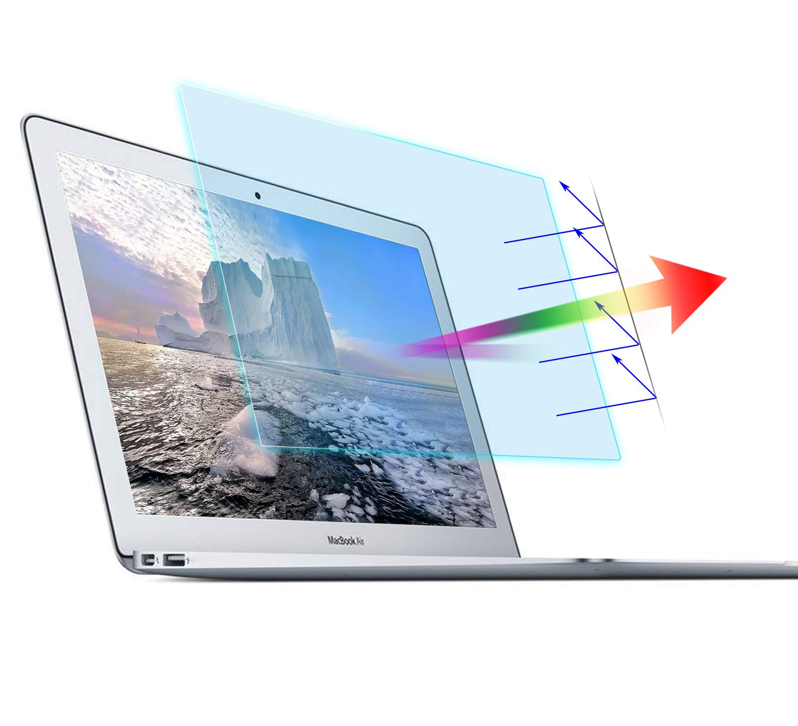 """2-Pack Anti Blue Light Anti Glare Screen Protector for MacBook Pro 13 Model A2338 A2289 A2251 A2159 A1706 A1708,Blue Light Blocking Anti Glare Filter Film Compatible with MacBook Pro 13"""" Touch Bar"""
