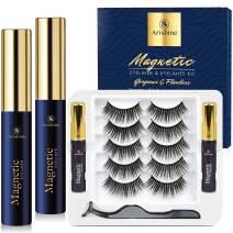 Arishine Magnetic Eyelashes with Eyeliner Luxury Multi-layered Effect Natural Look Faux Mink Lashes for Girls | 5 Pair