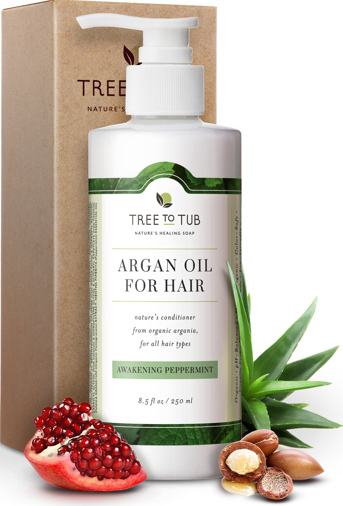 Real, Organic Conditioner For Oily Hair, The Only pH 5.5 Balanced Peppermint Natural Conditioner For Sensitive Skin – Deep Conditioner For Natural Hair With Eco-Friendly Wild Soapberries