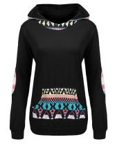 Beyove Women's Printed Sweatshirts Long Sleeve Pullover Hoodies Pocket S-XXL