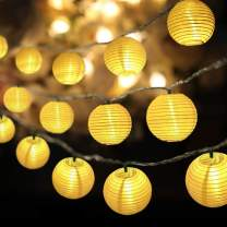 RTMOK Lantern String Lights Waterproof 30 LED, Light String 14.7ft(4.5M) Home Decorations for Party, Wedding, Halloween, Christmas, Garden and Holiday Atmosphere Light with Battery Case(Warm White)