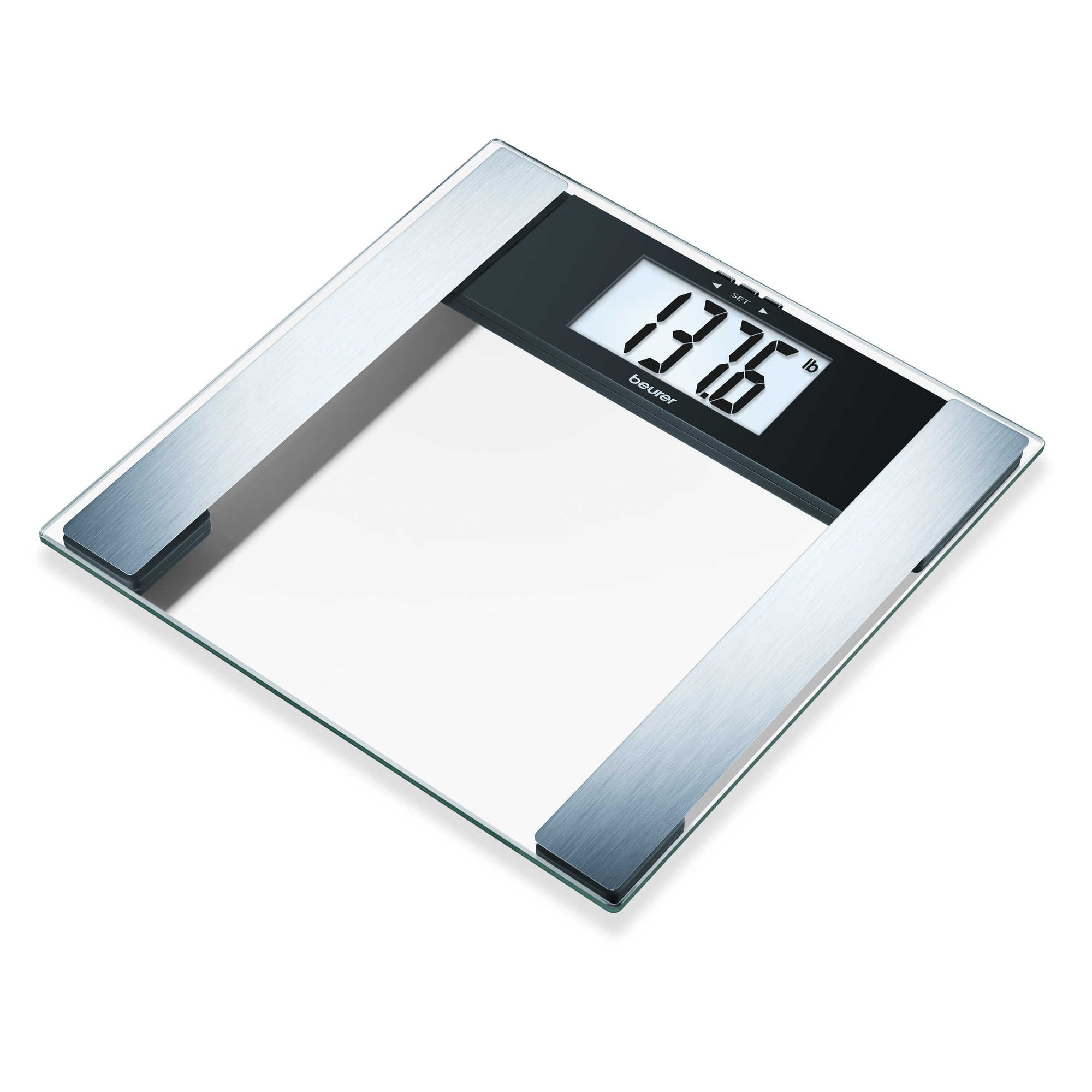 Beurer Glass Body Analysis Scale Measures Weight, Fat, Water and Muscle Percentages, BG17