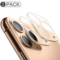 (2 Pack) iPhone 11 Pro/11 Pro Max Camera Lens Protector, BASE MALL Dustproof 9H Tempered Glass Camera Lens Screen Cover for iPhone 11 Pro 5.8''/iPhone 11 Pro Max 6.5'' (Gold)