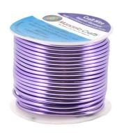 Mandala Crafts Anodized Aluminum Wire for Sculpting, Armature, Jewelry Making, Gem Metal Wrap, Garden, Colored and Soft, 1 Roll(12 Gauge, Lavender)