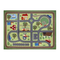 "Gertmenian Teach Me Activity Road Rug Learning Carpets Educational Play Mat Bedding Area Rugs, 40""x50"",Multicolor"