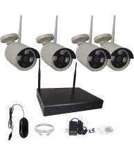 4UCam 4 Camera Wireless Network IP WiFi NVR Kits Security Camera System Home Security Camera System Indoor Outdoor HD 1080P