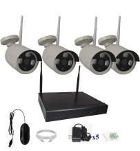 4UCam 4 Camera Wireless Network IP WiFi NVR Kits Security Camera System Home Security Camera System Indoor Outdoor HD 1080P