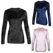 Zeagoo Women's Velvet Long Sleeve Basic Tunic Shirt Tops S-XXL