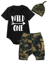 Shalofer Toddler 1ST Birthday Outfit Set Baby Boy Funny Long Sleeve Clothing Set with Hat