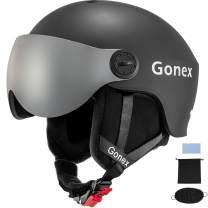Gonex ASTM Certified Ski Helmet with Detachable Goggles, Winter Snow Snowboard Helmet Windproof Skiing Helmet for Men Women Youth, Accessories Included, S/M/L Size