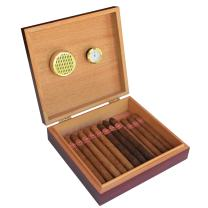 Cherry Finish Spanish Cedar Humidor with Magnet Seal and Humidifier Gel