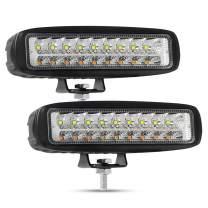 6 inch LED Light Bar, AAIWA LED Backup Lights for Truck Off Road Lights with Yellow White Light Led Pods, 2PCS 3500K 6500K Flood Driving Fog Lamps for ATV UTV SUV Jeep Boat