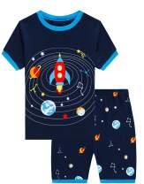 Boys Pajamas Planet 100% Cotton Pjs Toddler 2 Piece Sleepwear Kids Short Set 2t-10t
