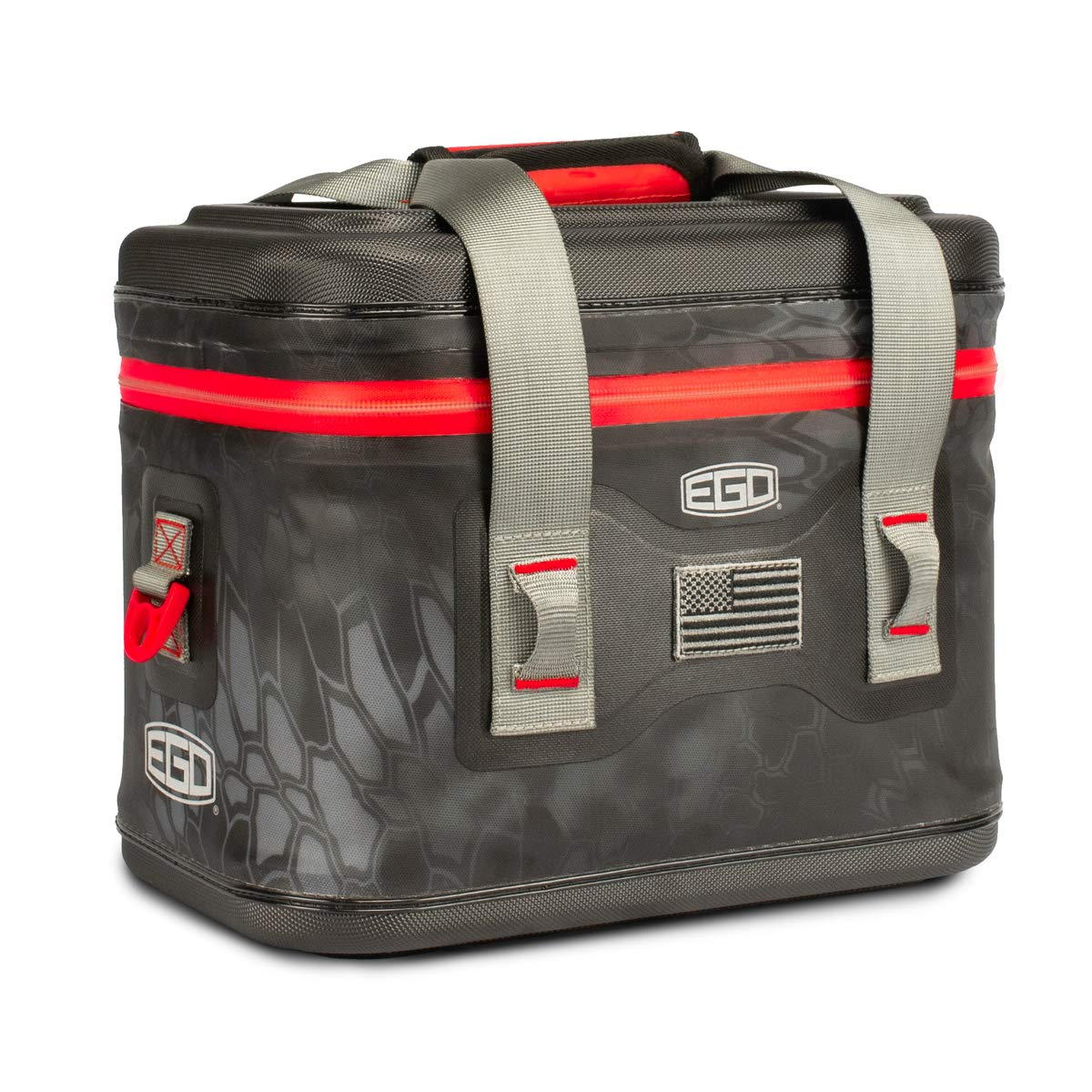 EGO Kryptek Beer Cooler, Fishing Storage Bag, High Tech TPU Fabric, 72 Hour Ice Retention, Food & Snack Holder, Angler Must Have, 4 Sizes Available